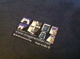 Image Rectifier business card input