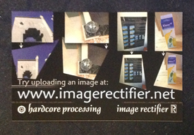 Image Rectifier business card output